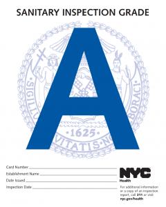 Ejemplo de certificado de inspección sanitaria Nueva York